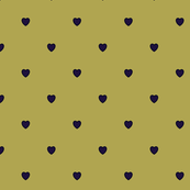 Purple Color Love Heart Gold Color Background Polka Dot Pattern