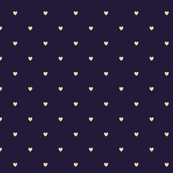 Sand Color Love Heart Purple Color Background Polka Dot Pattern