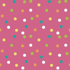 Spring Is Here Polka Dots On Pink