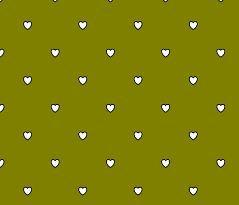 White-black-color-love-heart-olive-green-color-background-heart-love-polka-dot-pattern_shop_preview