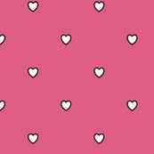 White Black Color Love Heart Blush Red Violet Pink Color Background Polka Dot Pattern