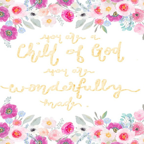 Child of God Floral Lovey Set