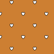 White Black Color Love Heart Bronze Brown Color Background Polka Dot Pattern