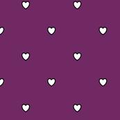 White Black Color Love Heart Byzantium Violet Purple Color Background Polka Dot Pattern