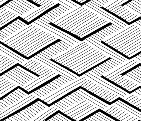 Geometric black and white fabric by nellianna on Spoonflower - custom fabric