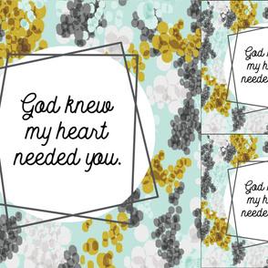 1 blanket + 2 loveys: god knew my heart needed you // gray champagne fizz on aqua