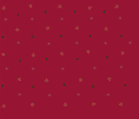 holly berries snowflake fabric by rainybowy on Spoonflower - custom fabric