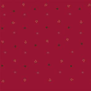 holly berries snowflake