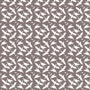 Cormorants pattern white on grey