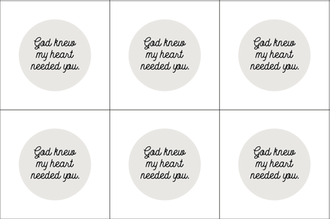 6 loveys: god knew my heart needed you // 169-1 fabric by ivieclothco on Spoonflower - custom fabric