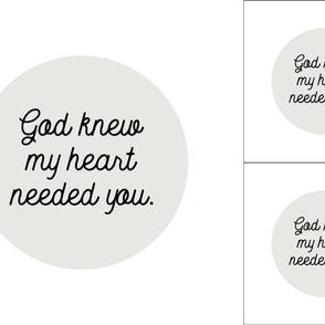1 blanket + 2 loveys: god knew my heart needed you // 169-1