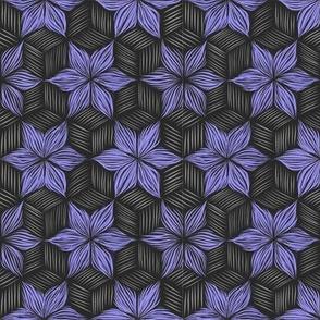 Feather stars - dark grey purple – large