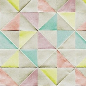 folded pastel triangles