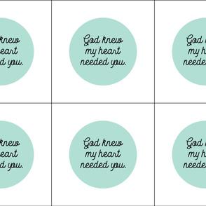 6 loveys: god knew my heart needed you // aqua