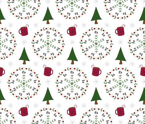 Fa la la la la! fabric by shinebrightoday on Spoonflower - custom fabric