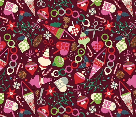 Danish christmas tree ornaments fabric by camcreative on Spoonflower - custom fabric