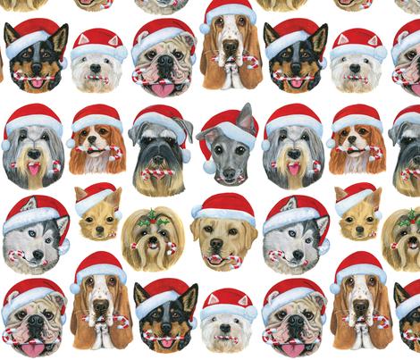 Christmas Doggies fabric by amberwjohnson on Spoonflower - custom fabric