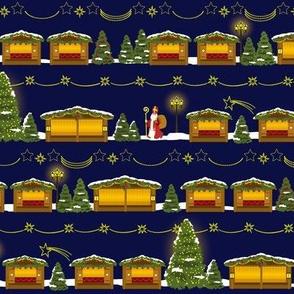 st. nikolaus walking around christkindlmarkt