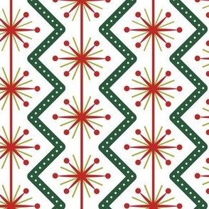 Atomic Christmas- Classic Colors // midcentury modern retro atomic age christmas red green wrapping paper gift wrap