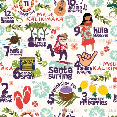 "12 Days of Christmas - Hawaiian Style 10.5"""