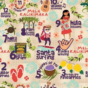 """Hawaiian Christmas - 18"""""""