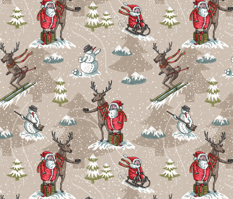 winter_madness_coffee fabric by moyra on Spoonflower - custom fabric