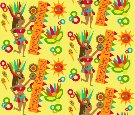 Carnival in Brazil fabric by dnbmama on Spoonflower - custom fabric