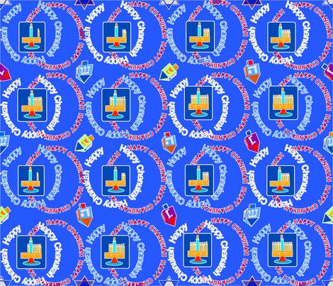 HAPPY CHANUKAH ALL AROUND-2 fabric by soobloo on Spoonflower - custom fabric