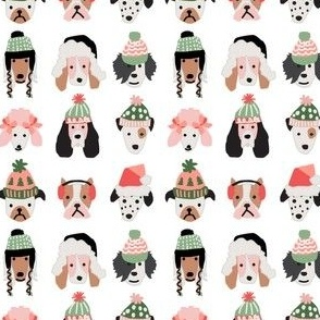Puppy Dogs in Christmas Hats mini