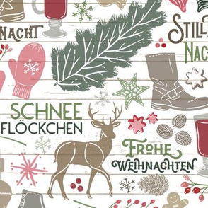 German Christmas Traditions // Frohe Weihnachten! // Christmas Trees, Carols, Greetings, Gluehwein, Mittens, Bells, Gingerbread, Lebkuchen, Ice Skates © Zirkus Design