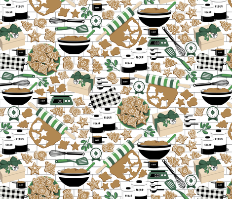 Making, Baking, and Decorating fabric by nanshizzle on Spoonflower - custom fabric