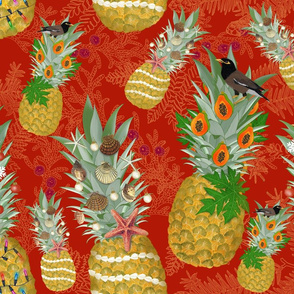 Holiday Pineapple Tree designs