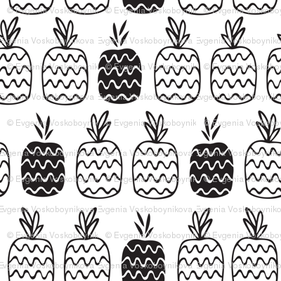 Pineapples pattern_w