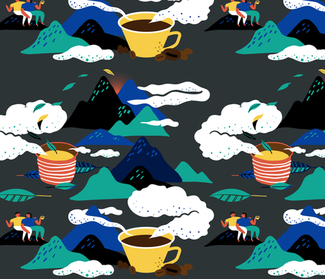 New Year Watching the dawn fabric by alpinist on Spoonflower - custom fabric