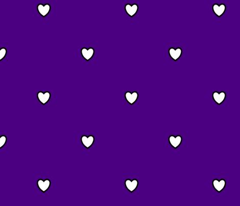 White Black Color Love Heart Indigo Blue Purple Color Background Polka Dot Pattern fabric by artpics on Spoonflower - custom fabric