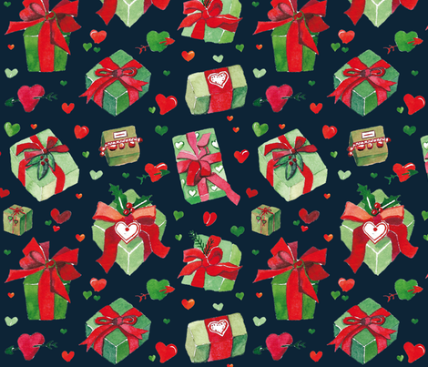 love is a present fabric by colorofmagic on Spoonflower - custom fabric