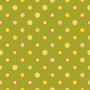 Green polka dot seamless pattern