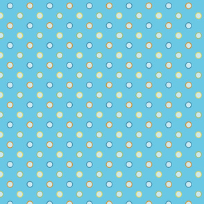 Turquoise Polka dot repeat pattern