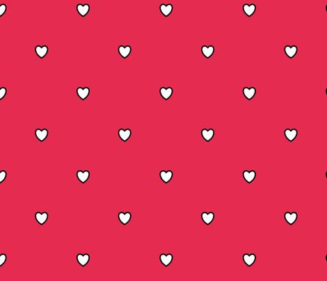 White Black Color Love Heart Amaranth Rose Red Color Background