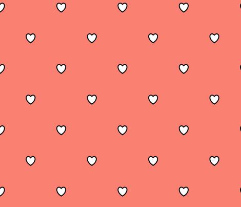 White Black Color Love Heart Salmon Fish Pink Color ...