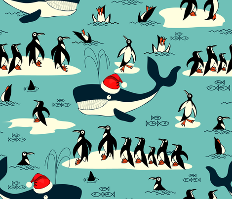 Christmas at the North Pole  fabric by chicca_besso on Spoonflower - custom fabric