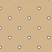 White Black Color Love Tan Light Brown Color Background Polka Dot Pattern