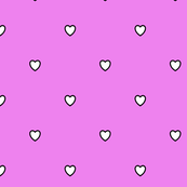 White Black Color Love Violet Color Background Polka Dot Pattern