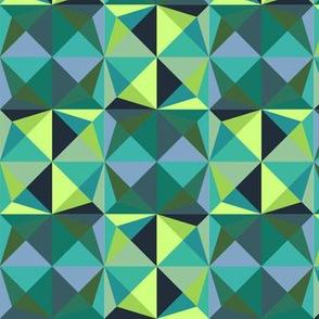 Origami Fortune Tellers Digital Pattern - Green/Blue