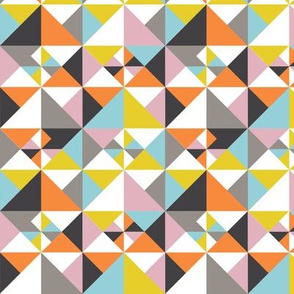 Detailed Geometric Triangles Pattern - Multicolored
