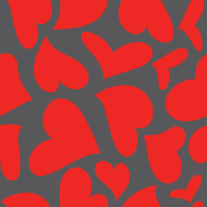 Silhouette - XsOs_RedWithGrayBG_HandDrawnHearts_Silhouette_seaml_stock