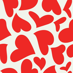 Silhouette - XsOs_RedWithOffWhtBG_HandDrawnHearts_Silhouette_seaml_stock