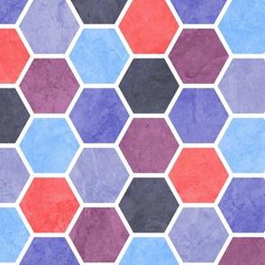 Geometric Beehive Pattern - Purple