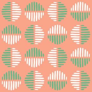 Abstract Spots Block Print - Watermelon