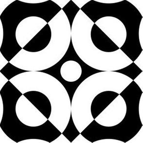 Mid Century Black and White Circle Design